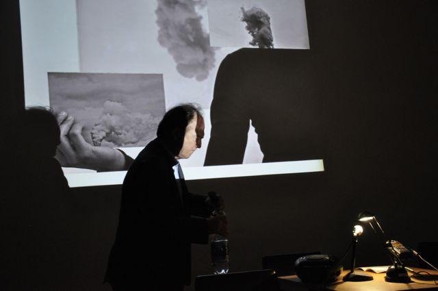 IDIOME in der MAERZ 2017, vor Projektion von E. Andessner, Foto Herndler