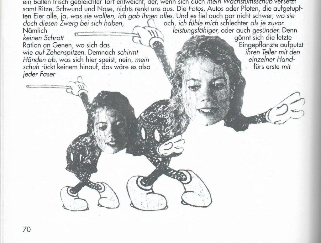 Charles Kaltenbacher, Illustration zum meikelmickimix (5), 1995, Detail